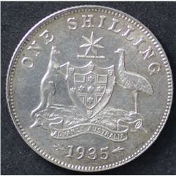1935 Shilling Uncirculated