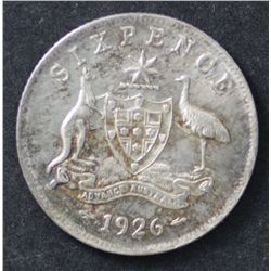 1926 Sixpence, nice nearly Uncirculated