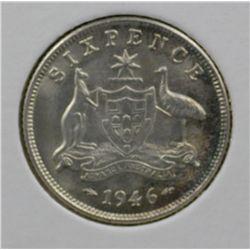 Sixpence 1946 Choice Uncirculated