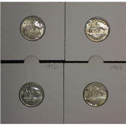 Sixpences 1948, 1950, 1951 & 1951 PL Choice Uncirculated