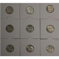 Sixpences 1954, 1955, 1957,1958,1959,1960,1961,1962,1963 Choice to Gem Unc