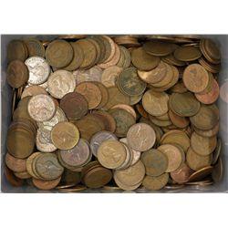 Bulk Australian pennies, 10 kilos , good mix of dates, unsorted for varieties