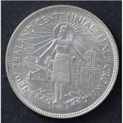 NZ 1940 Centenial half crown Uncirculated