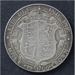 GB 1933 Shilling Uncirculated , 1906 Crown VF