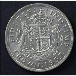 GB sixpences 1885, 1906 VF, crown 1937 EF