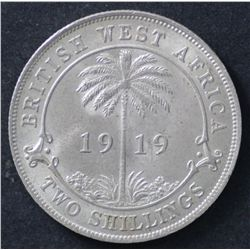 British West Africa 1919 Florin Choice Uncirculated