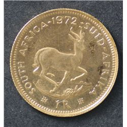 South Africa 1 Rand and ½ Rand 1972 Proof, (same as sov and ½ Sov)