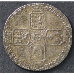 Great Britain 1787 Shilling and 1757 Sixpence Extremely Fine
