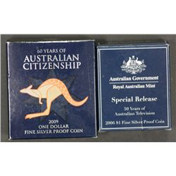 2006 TV special release $1 proof, 2009 Proof Dollar Citizenship