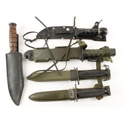Lot of (5) Military Style Knives