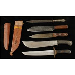 Lot of (5) Various Large Knives