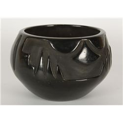 Santa Clara Blackware Bowl by Peggy Northcutt