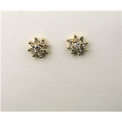 Charming Pair of Diamond Stud Earrings