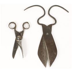 (2) Pairs of Spanish American Hand Forged Shears