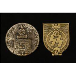 German WWII 1933 Gautag Munchen Tinnie Badge