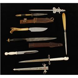Lot of (6) Small Daggers
