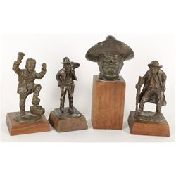 Collection of (4) Solid Bronze Miniatures