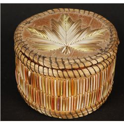 Ojibwa/Chippewa Lidded Basket