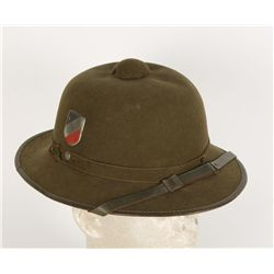 German WWII Army Afrika Corps Officers Pith Helmet