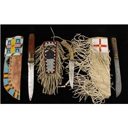 Lot of (3) American Indian Knives