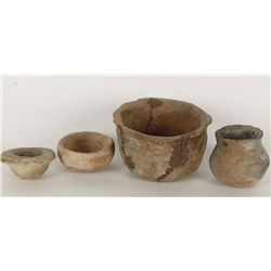 Collection of (4) Prehistoric Pots