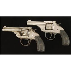 Lot of Two Iver Johnson Safety Automatic Revolvers