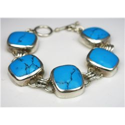 Big and Bold 5 Piece Turquoise Bracelet