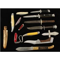 Lot of Folding Knives and more