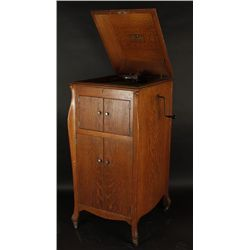 Antique Oak Cabinet Victrola