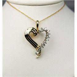 Delightful Diamond Heart Shaped Pendant