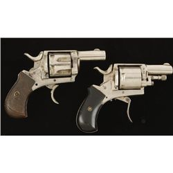 Lot of Two Belgian centerfire Revolvers