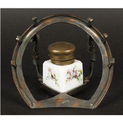 Vintage Horseshoe Inkwell