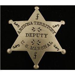 Old West Arizona Territory US Deputy Marshal Badge