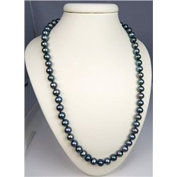 Beautiful Black Pearls Necklace