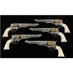 Lot of (6) Vintage Hubley Cap Guns