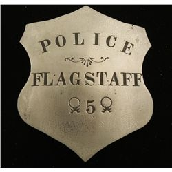 Old West Flagstaff Police #5 Law Badge
