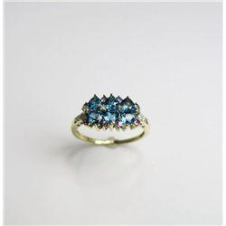 Delightful Blue Topaz Ring