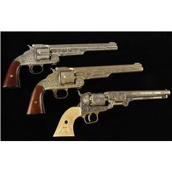 (1) Antique Cap Gun and (2) Replicas