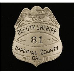 Old West Imperial County California Badge
