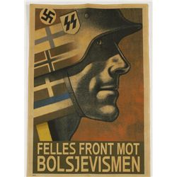 German WWII Waffen SS Soldier Recruiting Poster