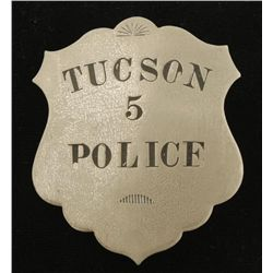 Tucson Police #5 Law Badge
