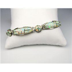 Dazzling Inlayed Opal Bracelet