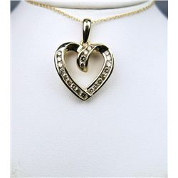 Radiant Heart Shaped Diamond Pendant