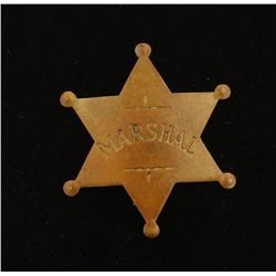 Old West US Marshall Badge