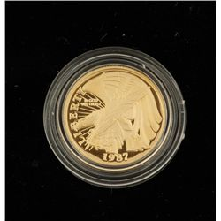 United States Constitution Gold Five Dollar Coin
