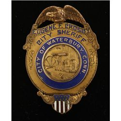 Cowboy Era City of Waterbury Connecticut Badge