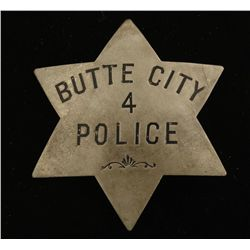 Old West Butte City Police #4 Badge