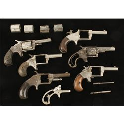 Lot of Six Spur Trigger Pistols