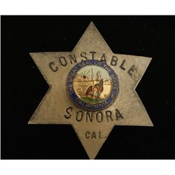 Vintage Constable Sonora California Badge