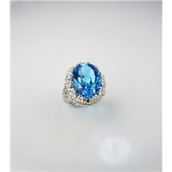 Brilliant Topaz and Silver Ring